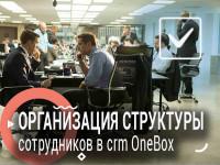 Организация структуры сотрудников в crm OneBox