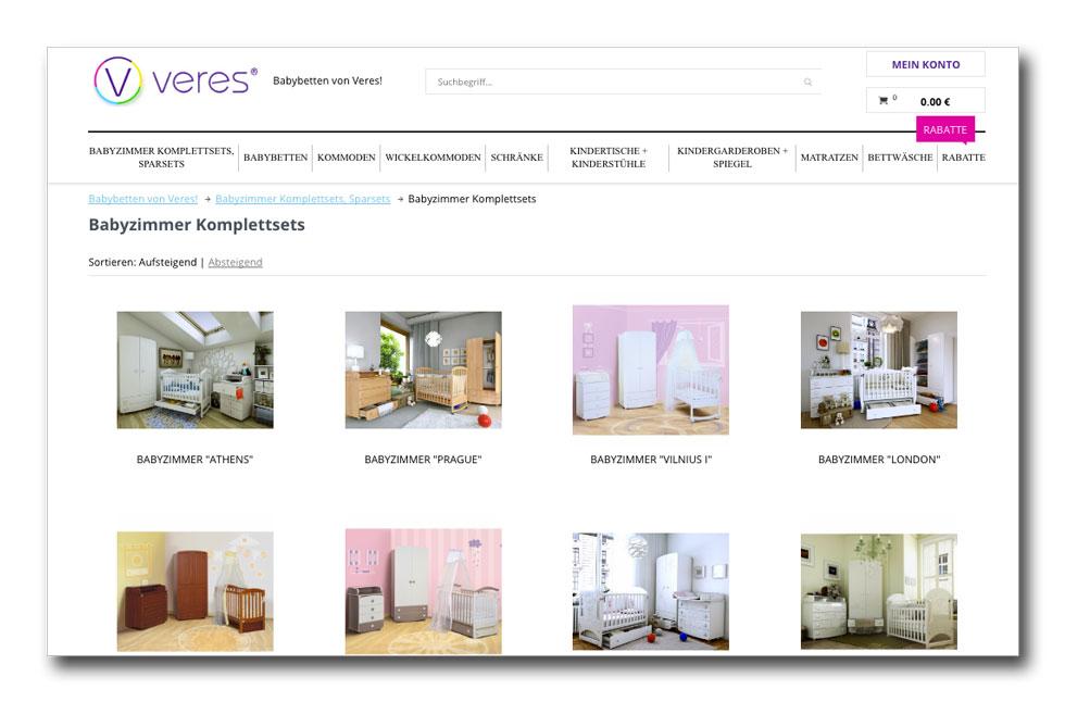 Украинская мебель «Верес» вышла на рынок Германии через интернет